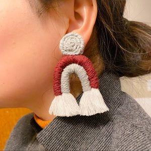 Geometric Mcarame Earrings